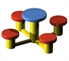 Disc Table with 4 Seats Image